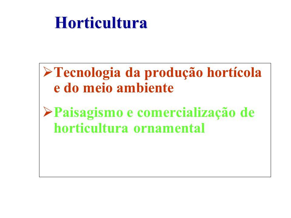 Horticultura Tecnologia da produção hortícola e do meio ambiente