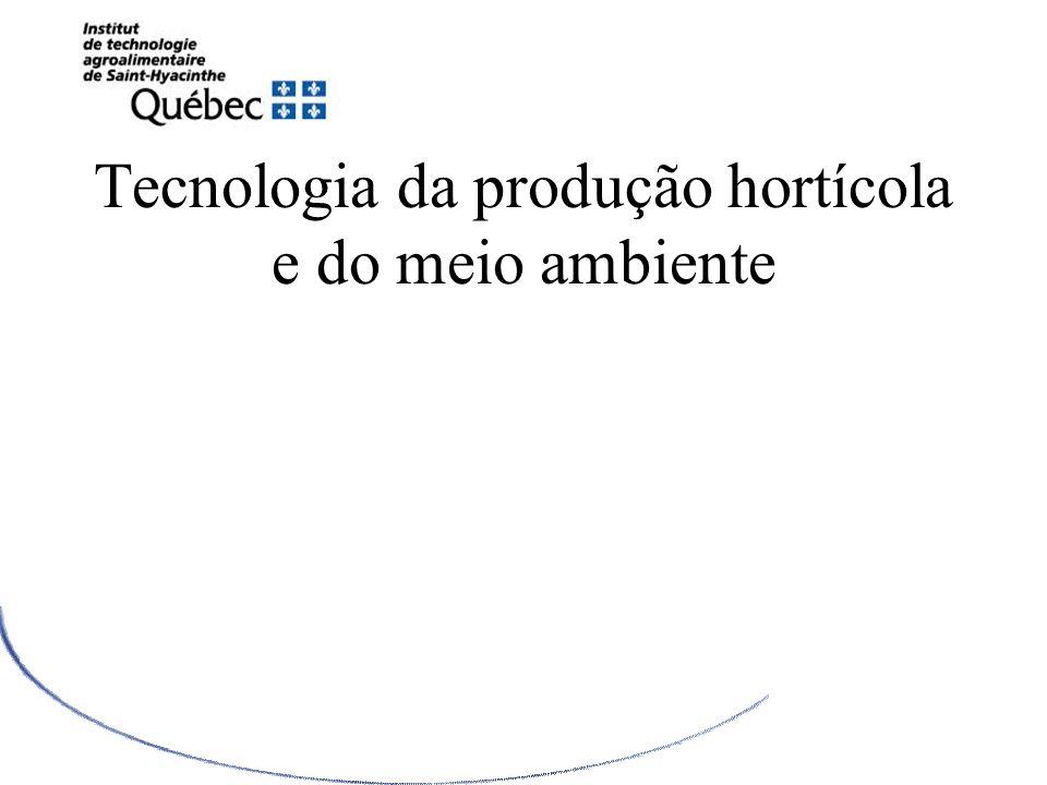 Tecnologia da produção hortícola e do meio ambiente