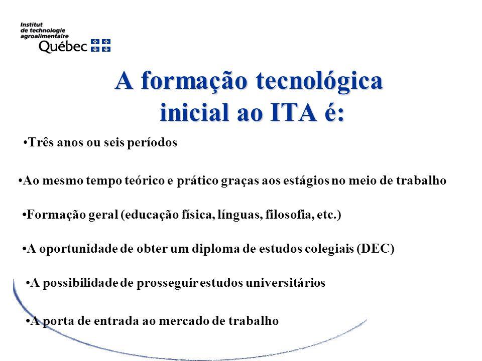 A formação tecnológica inicial ao ITA é: