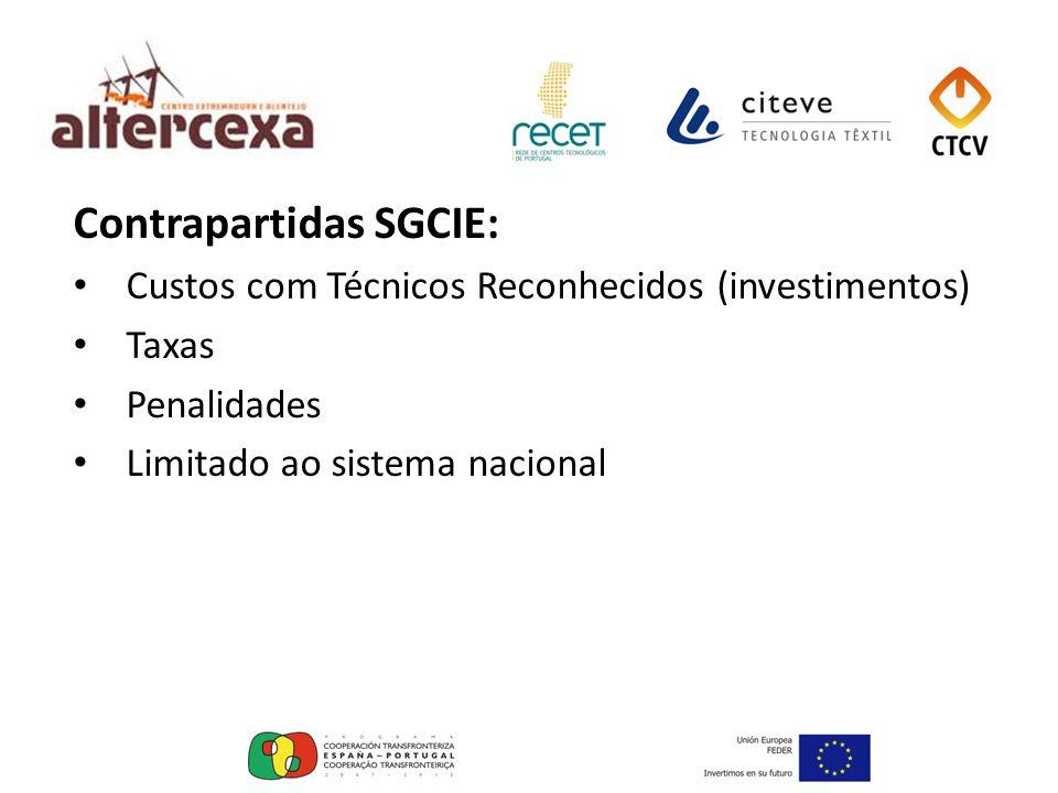 Contrapartidas SGCIE: