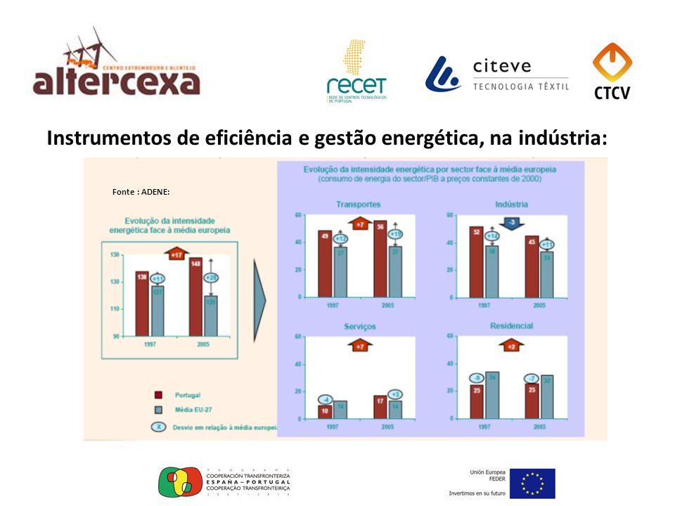 Instrumentos de eficiência e gestão energética, na indústria:
