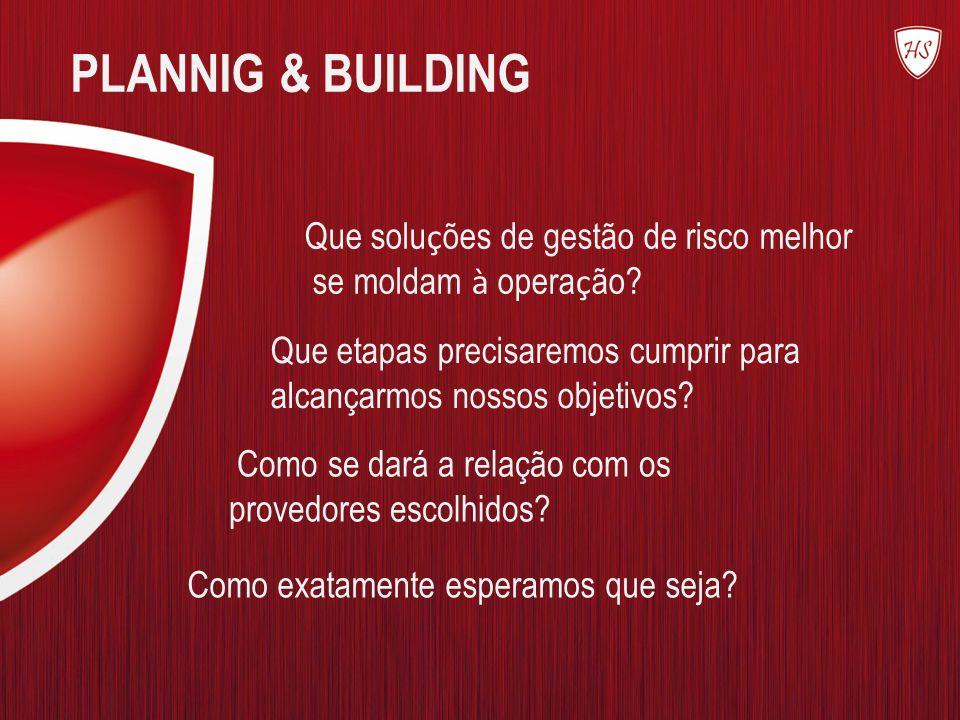 PLANNIG & BUILDING Que soluções de gestão de risco melhor