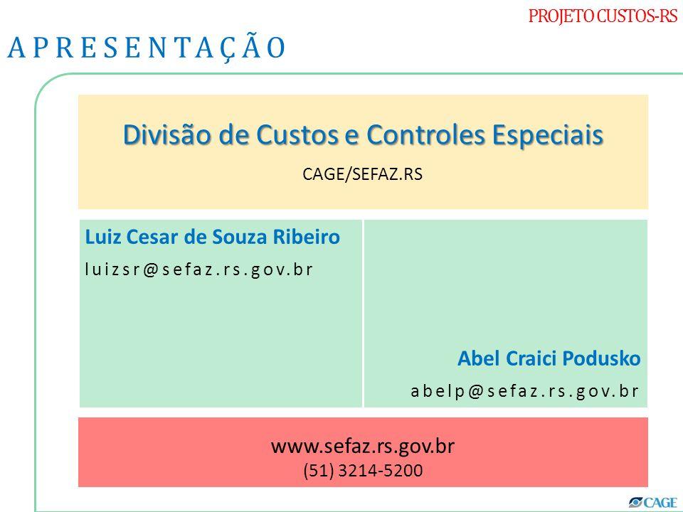 Divisão de Custos e Controles Especiais