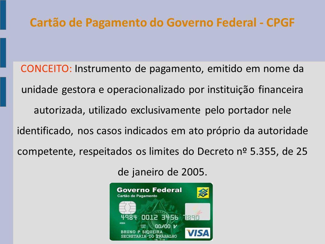 Cartão de Pagamento do Governo Federal - CPGF