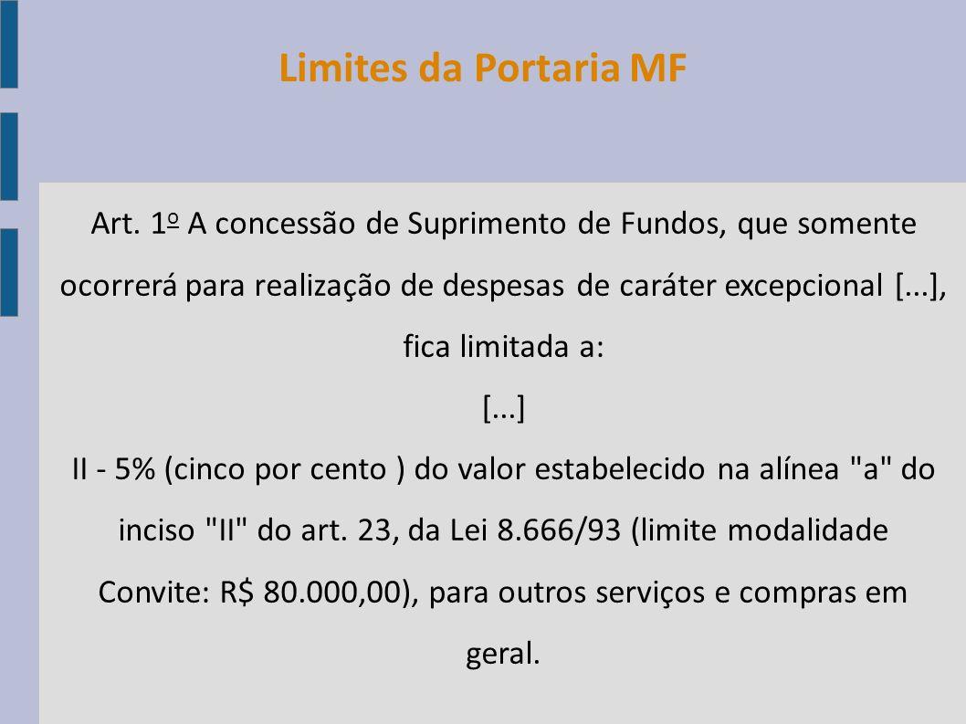 Limites da Portaria MF