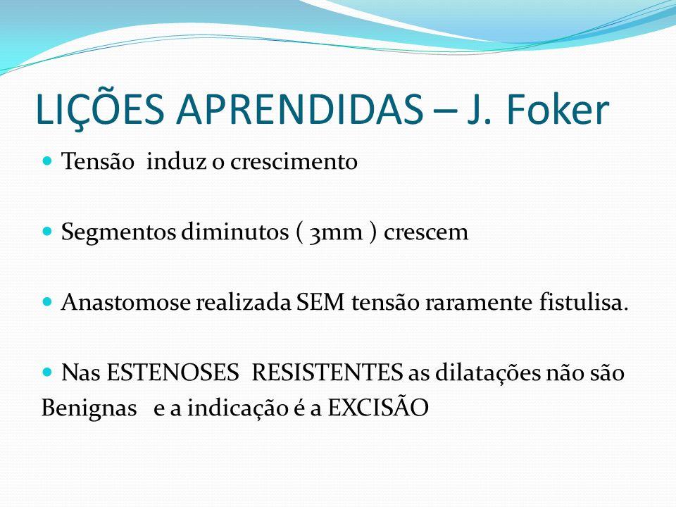 LIÇÕES APRENDIDAS – J. Foker