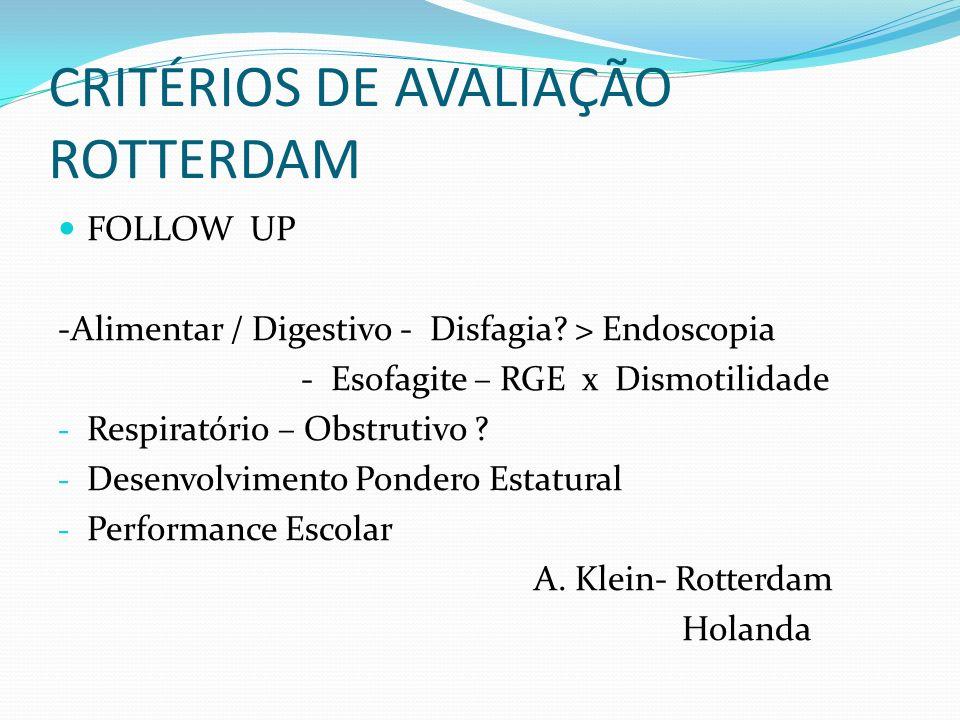 CRITÉRIOS DE AVALIAÇÃO ROTTERDAM