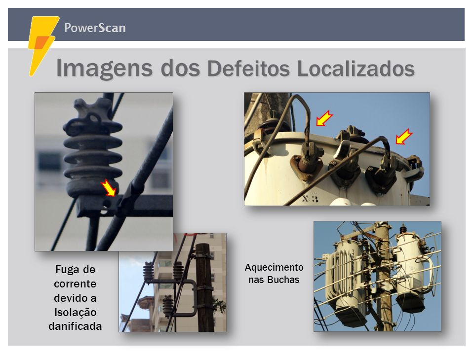 Imagens dos Defeitos Localizados
