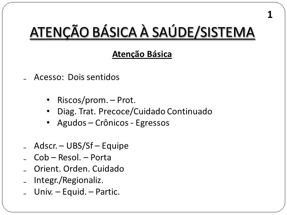 ATENÇÃO BÁSICA À SAÚDE/SISTEMA