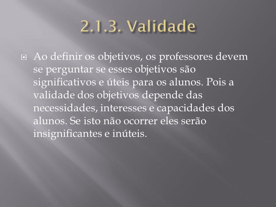 2.1.3. Validade