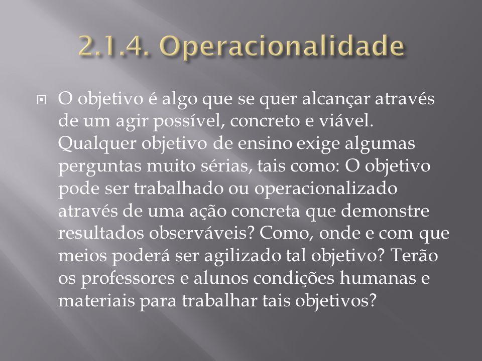 2.1.4. Operacionalidade