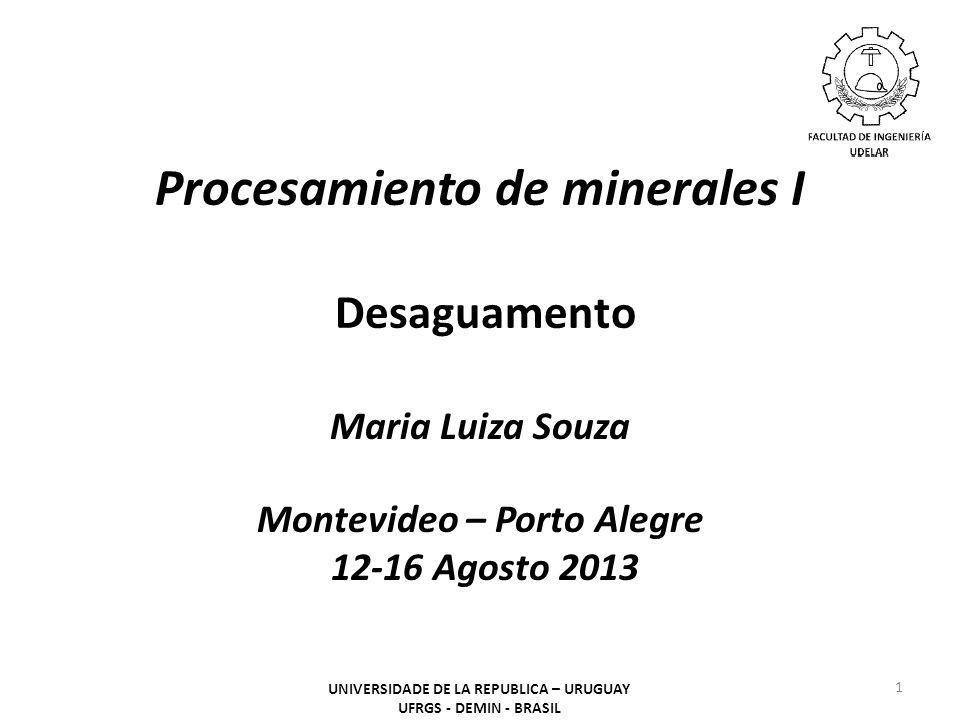 Procesamiento de minerales I Desaguamento