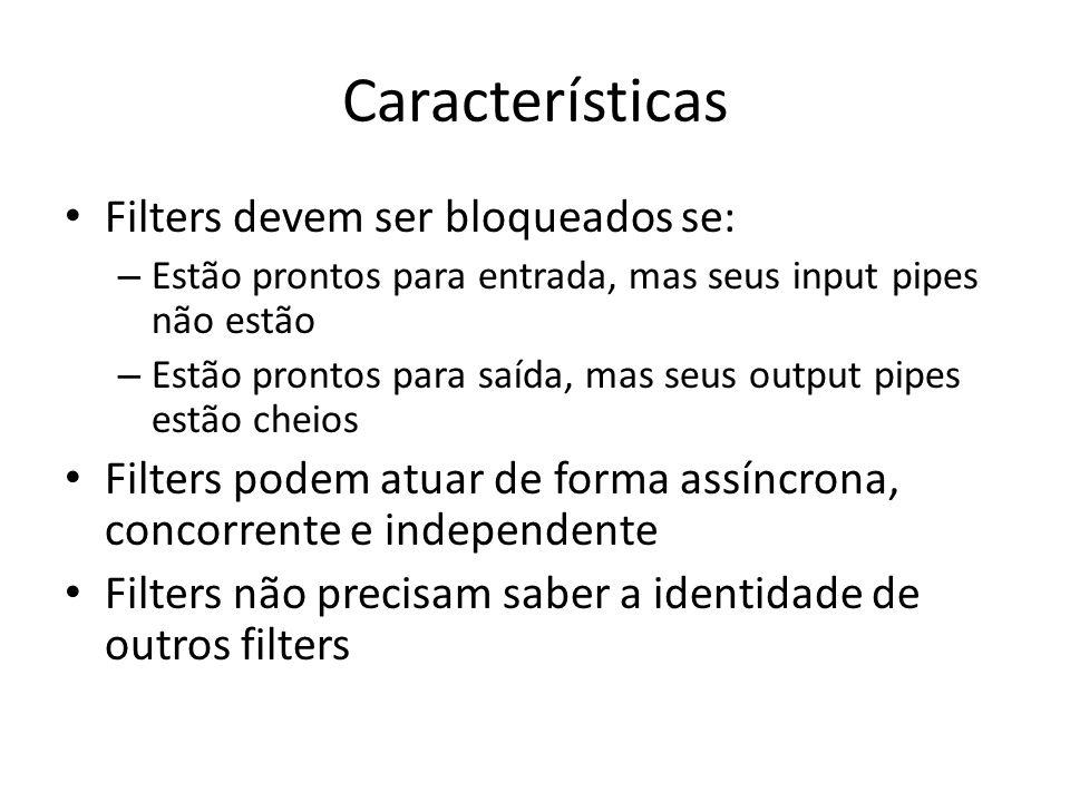 Características Filters devem ser bloqueados se: