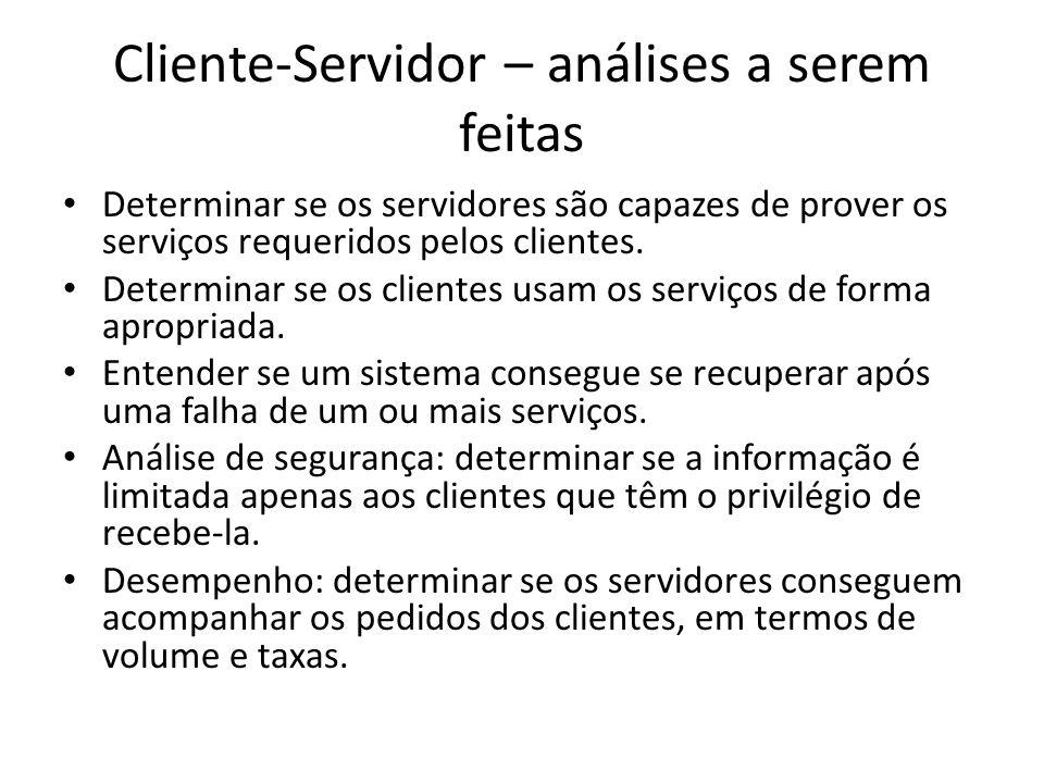 Cliente-Servidor – análises a serem feitas
