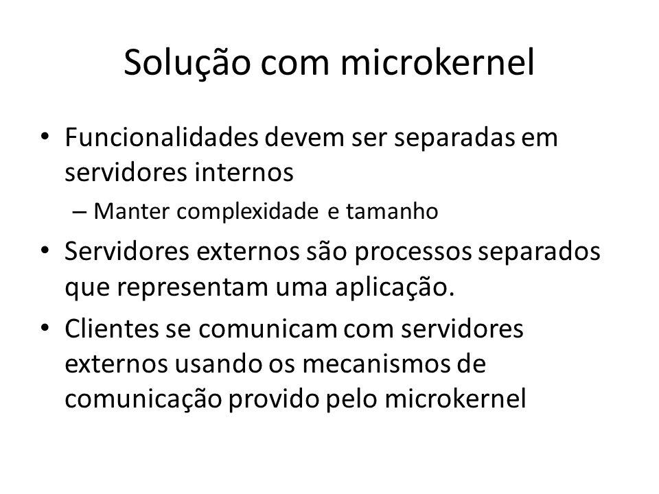 Solução com microkernel