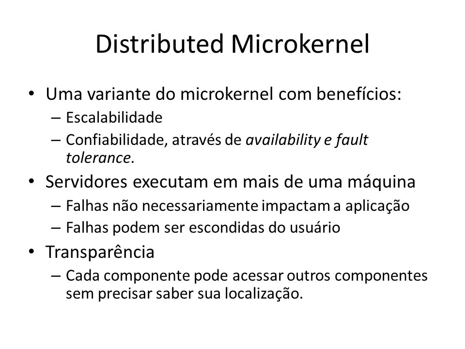 Distributed Microkernel