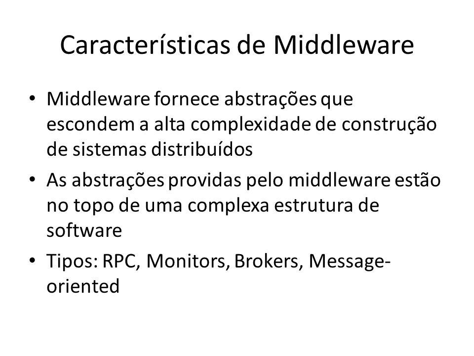 Características de Middleware