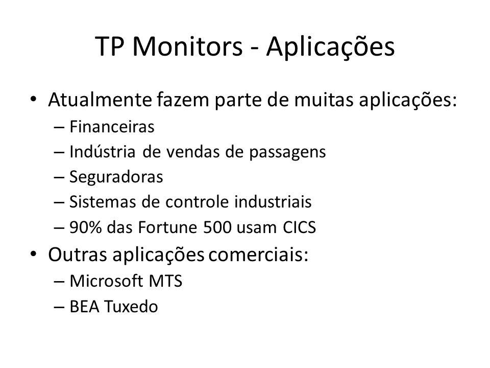 TP Monitors - Aplicações