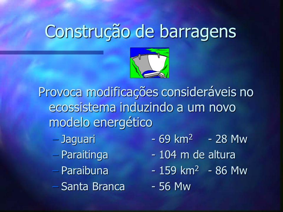 Construção de barragens