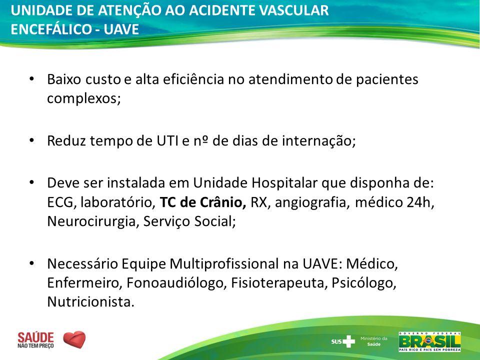 UNIDADE DE ATENÇÃO AO ACIDENTE VASCULAR ENCEFÁLICO - UAVE