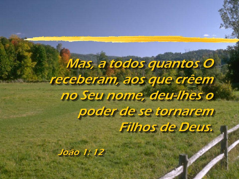 Mas, a todos quantos O receberam, aos que crêem no Seu nome, deu-lhes o poder de se tornarem Filhos de Deus.