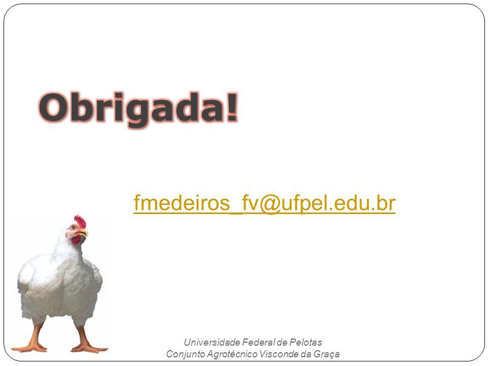Obrigada! fmedeiros_fv@ufpel.edu.br Universidade Federal de Pelotas