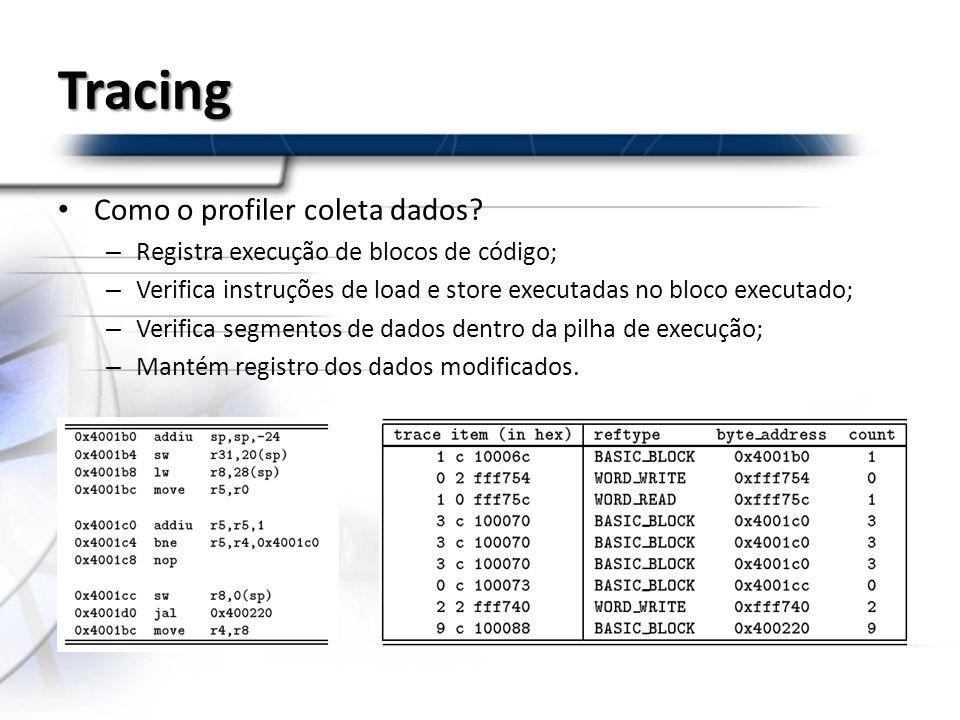 Tracing Como o profiler coleta dados