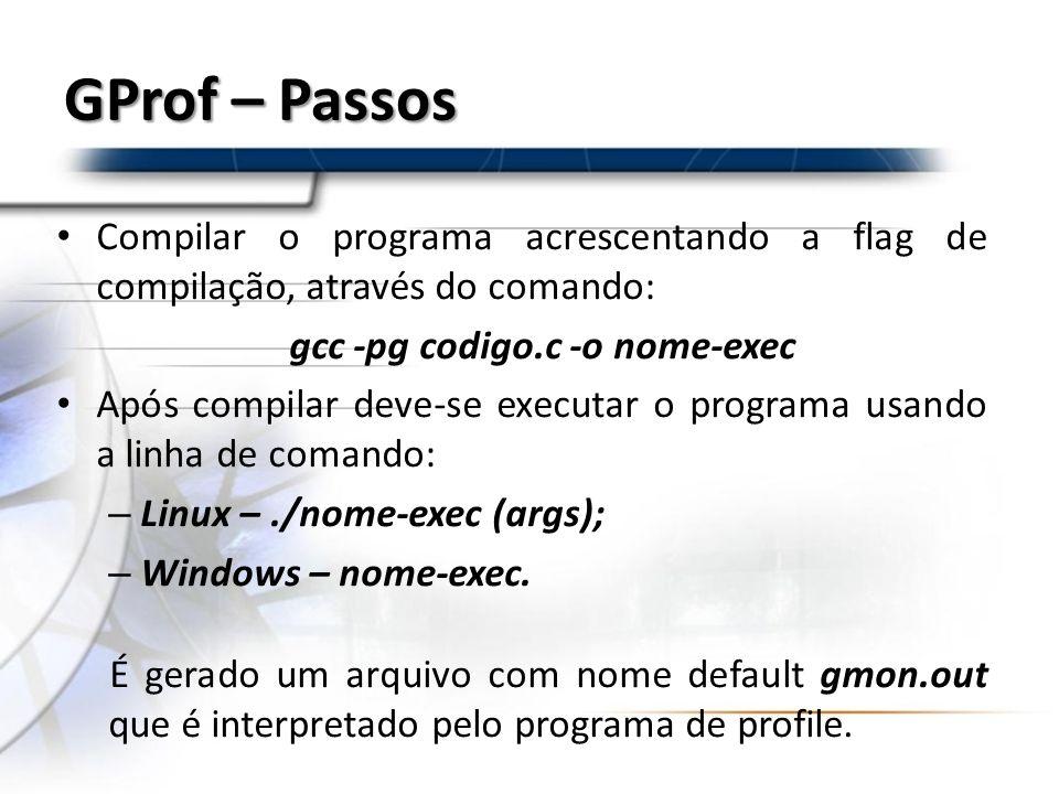 gcc -pg codigo.c -o nome-exec