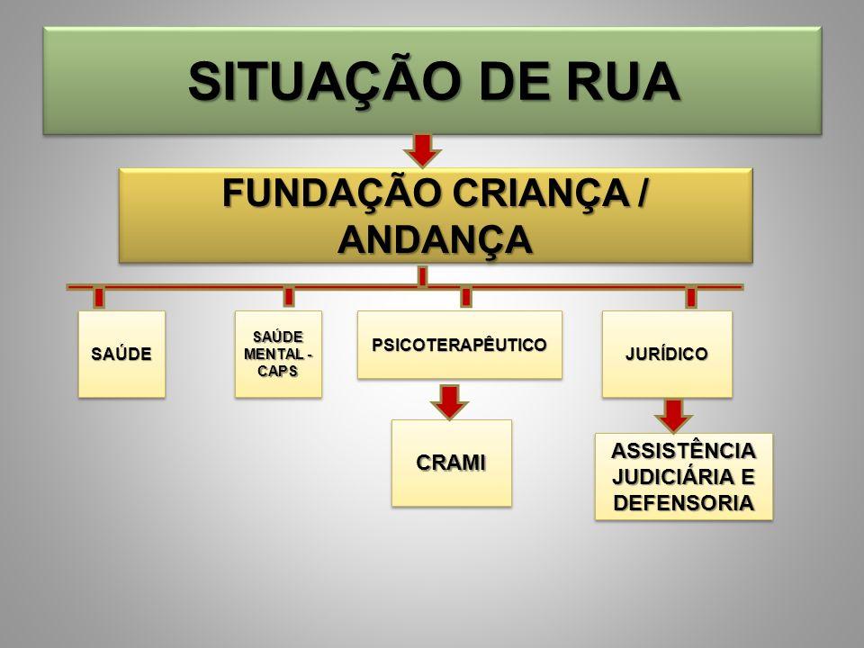 FUNDAÇÃO CRIANÇA / ANDANÇA ASSISTÊNCIA JUDICIÁRIA E DEFENSORIA
