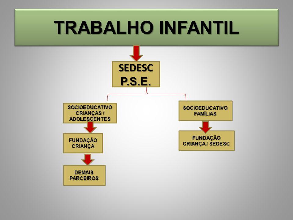 TRABALHO INFANTIL SEDESC P.S.E. SOCIOEDUCATIVO FAMÍLIAS