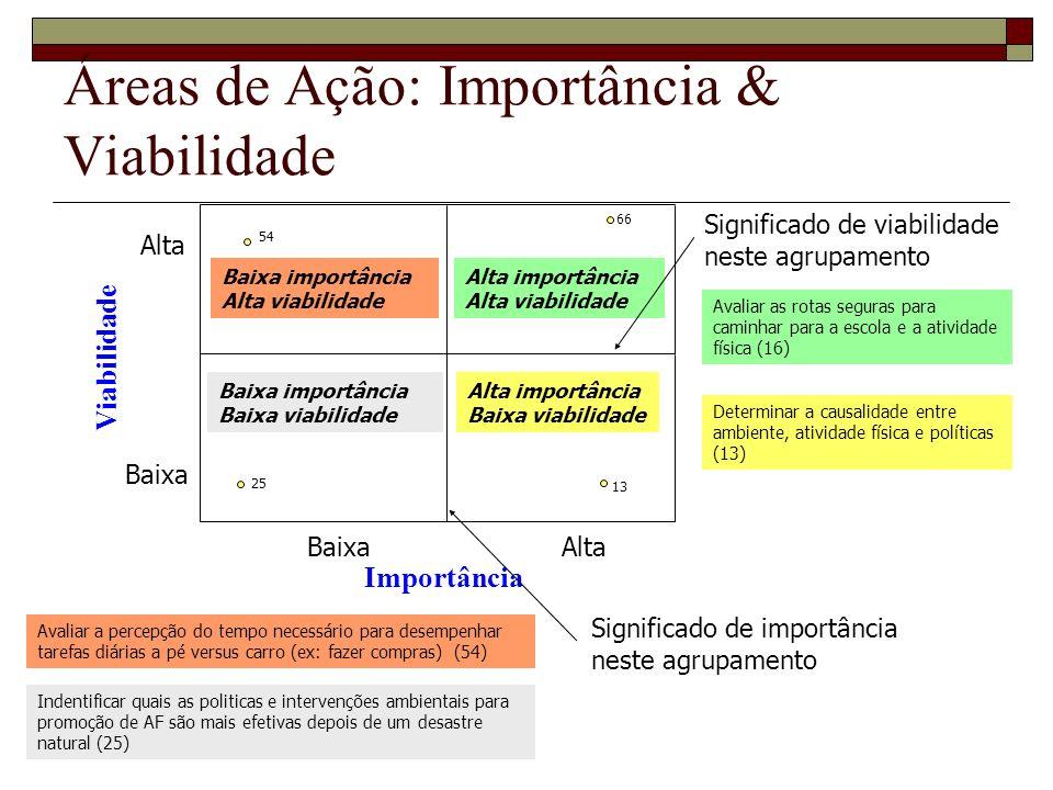 Áreas de Ação: Importância & Viabilidade