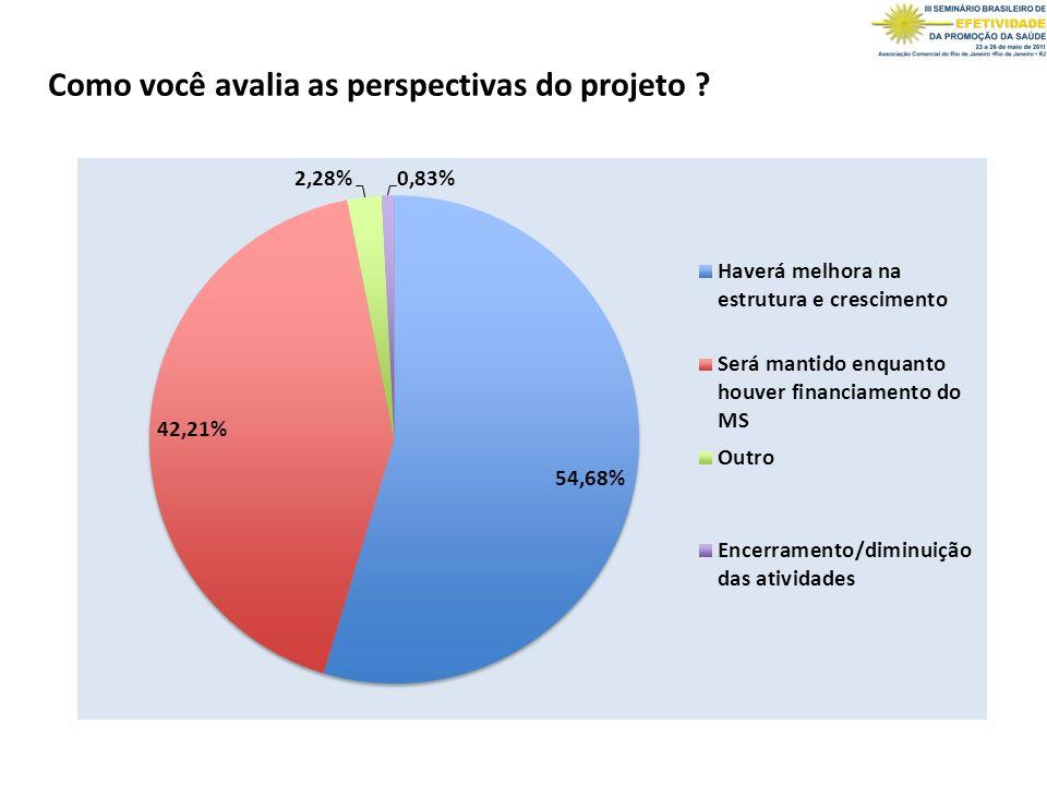 Como você avalia as perspectivas do projeto