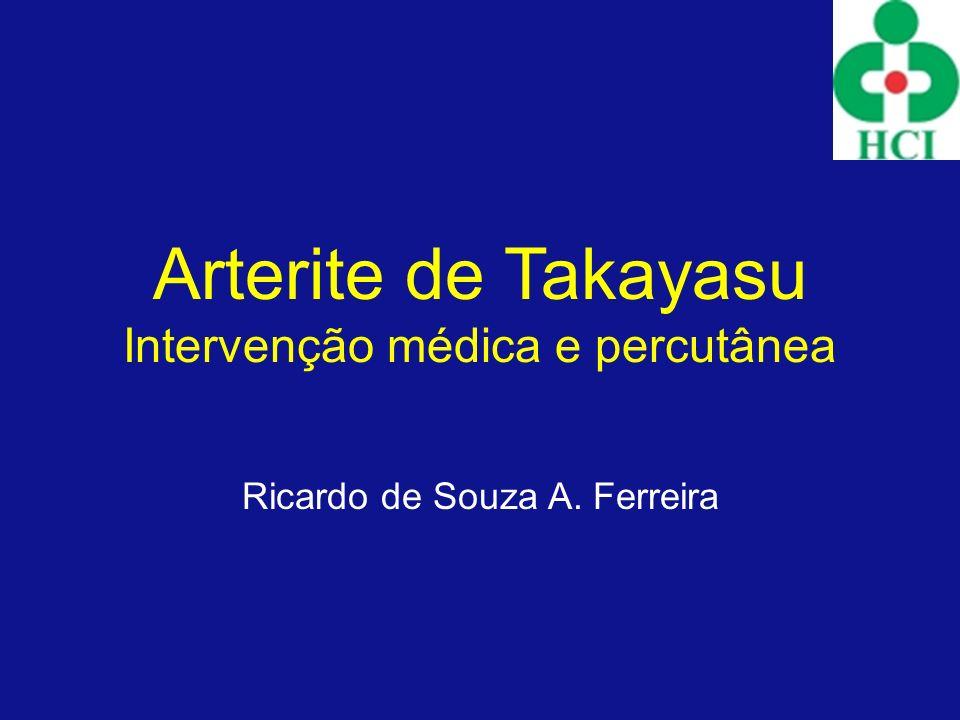 Arterite de Takayasu Intervenção médica e percutânea