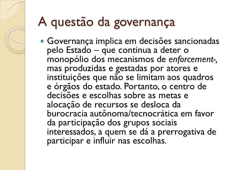 A questão da governança