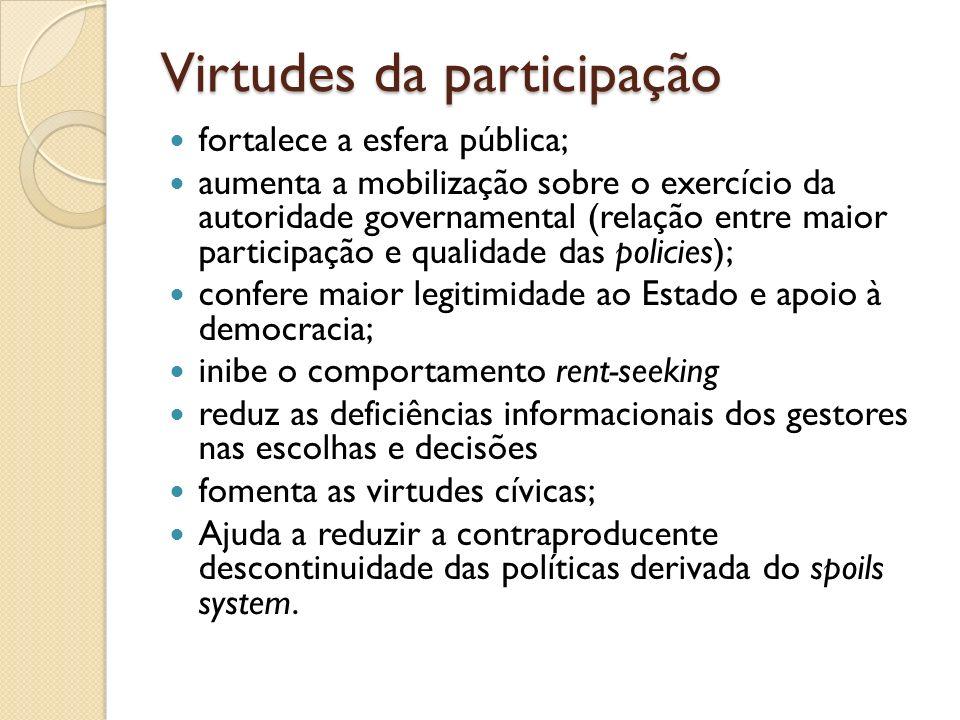 Virtudes da participação