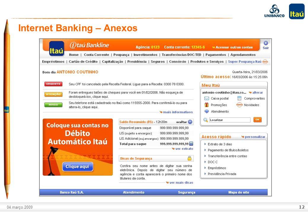 Internet Banking – Anexos