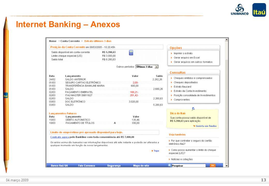 Mobile Banking – Anexos