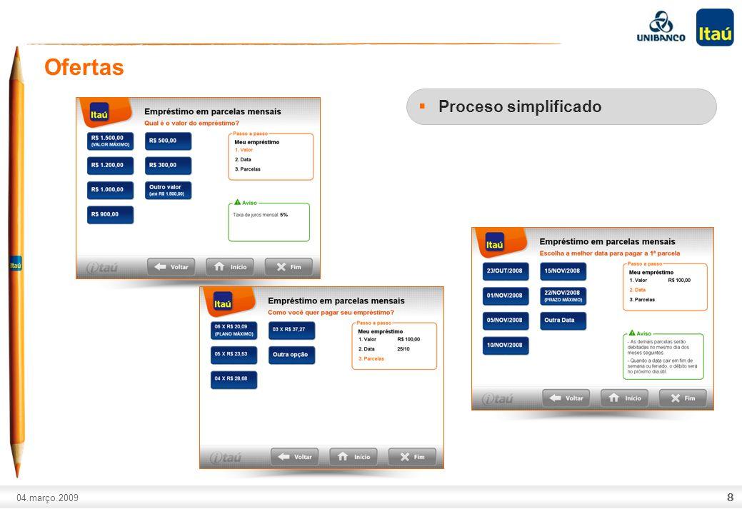 Ofertas Portfolio de productos adecuado Crédito pre-aprovado