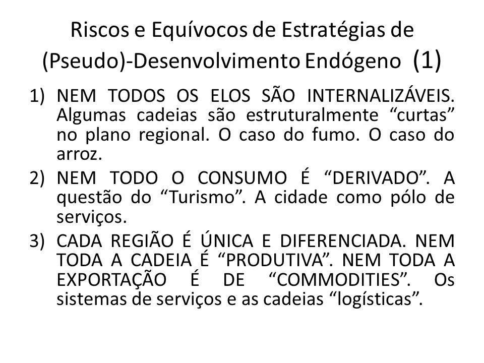Riscos e Equívocos de Estratégias de (Pseudo)-Desenvolvimento Endógeno (1)