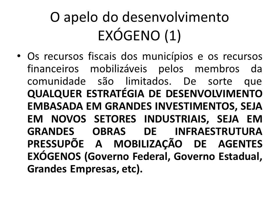 O apelo do desenvolvimento EXÓGENO (1)