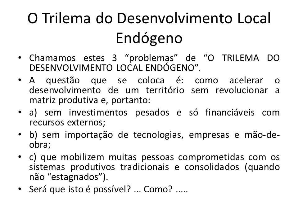O Trilema do Desenvolvimento Local Endógeno