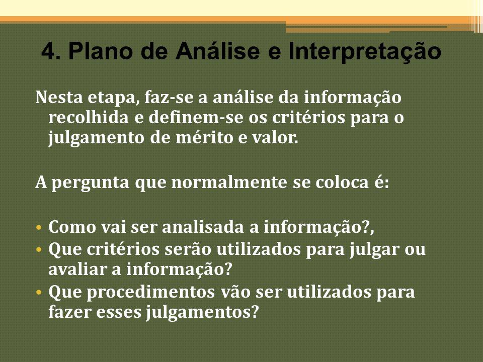 4. Plano de Análise e Interpretação