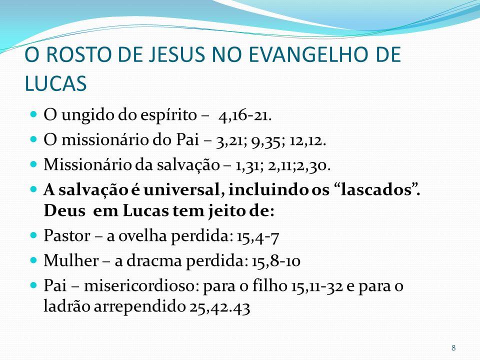 O ROSTO DE JESUS NO EVANGELHO DE LUCAS