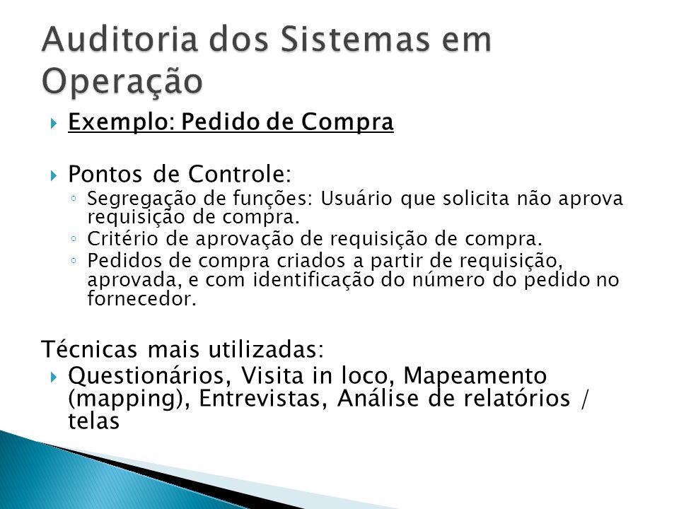 Auditoria dos Sistemas em Operação