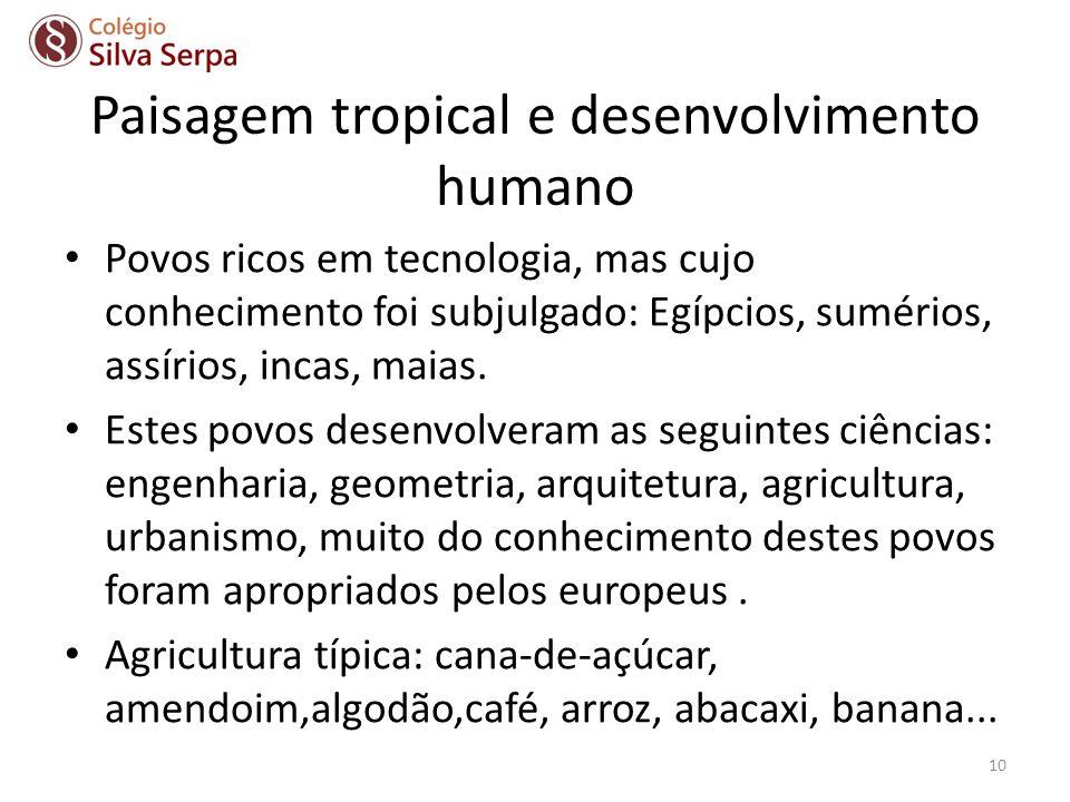 Paisagem tropical e desenvolvimento humano