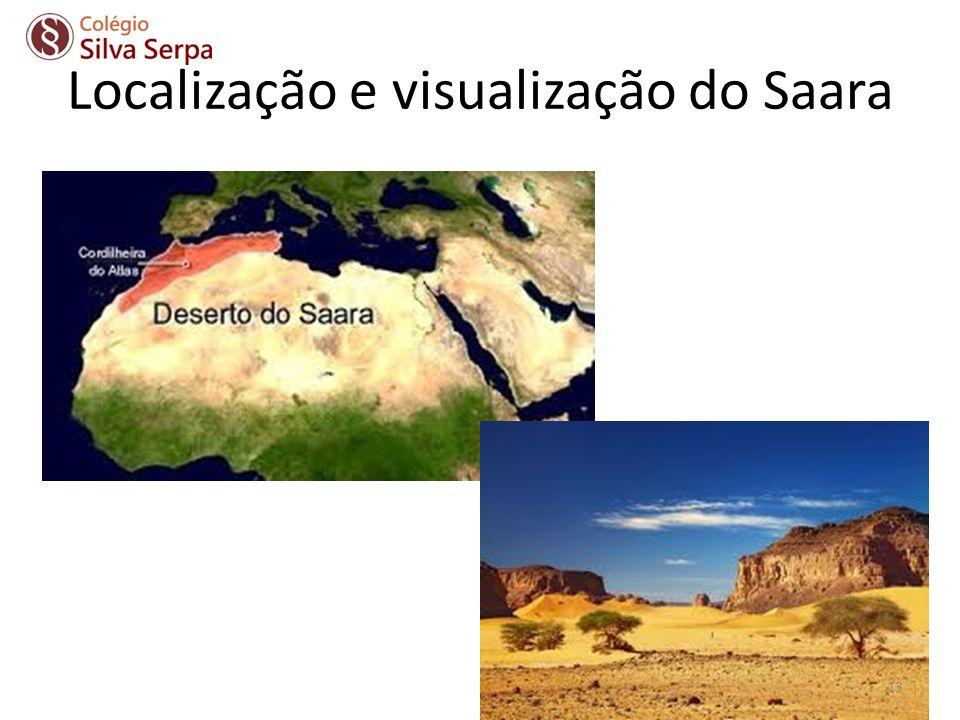 Localização e visualização do Saara