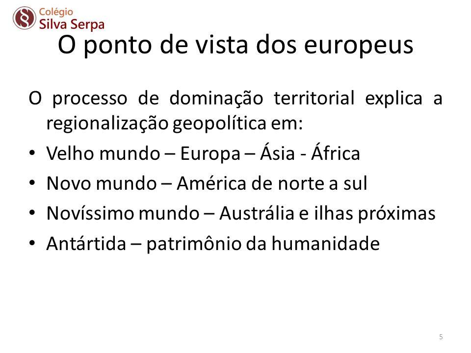 O ponto de vista dos europeus