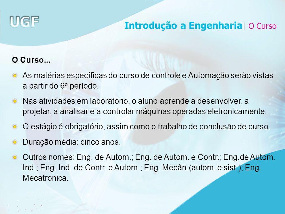 Introdução a Engenharia| O Curso