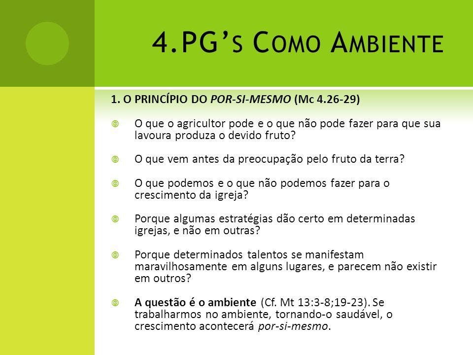 4.PG's Como Ambiente 1. O PRINCÍPIO DO POR-SI-MESMO (Mc 4.26-29)