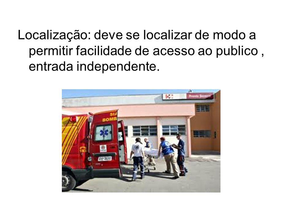 Localização: deve se localizar de modo a permitir facilidade de acesso ao publico , entrada independente.